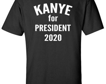 Kanye T Shirts | Kanye for President | Kanye 2020 | Kanye West Clothing | Yeezus Tour Shirt | Kanye West Tshirt | Yeezus T Shirt | S405