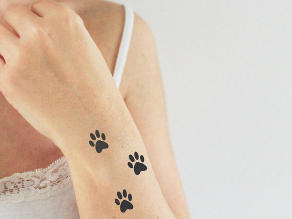 9 cat's paws temporary tattoos