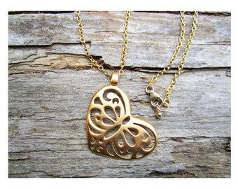 18k vermeil Open Heart necklace