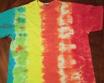 Striped Tie Dye T Shirt