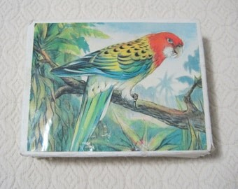 Block Puzzle, Create Six Different Bird Puzzles from 12 Wooden Blocks, Vintage
