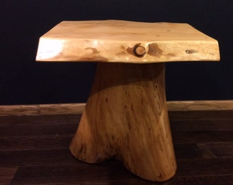 Rough edge log table