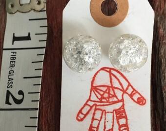 vintage marble earings
