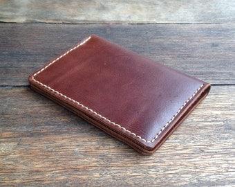 Leather Passport Holder - hand cut, hand stitched, hand made