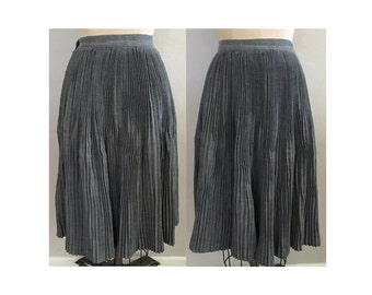 1940s Grey Wool Accordion Pleated Skirt