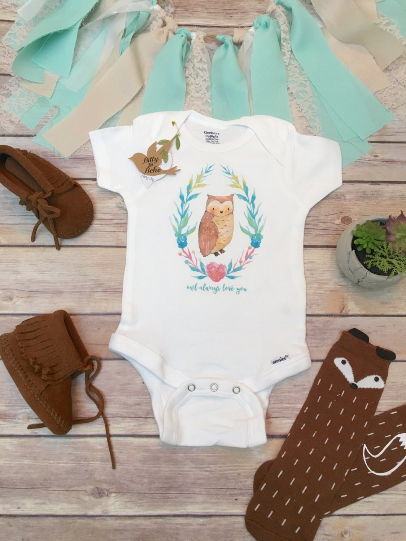 Boho Baby Shower Dress ~ Owl onesie� baby girl clothes boho shower