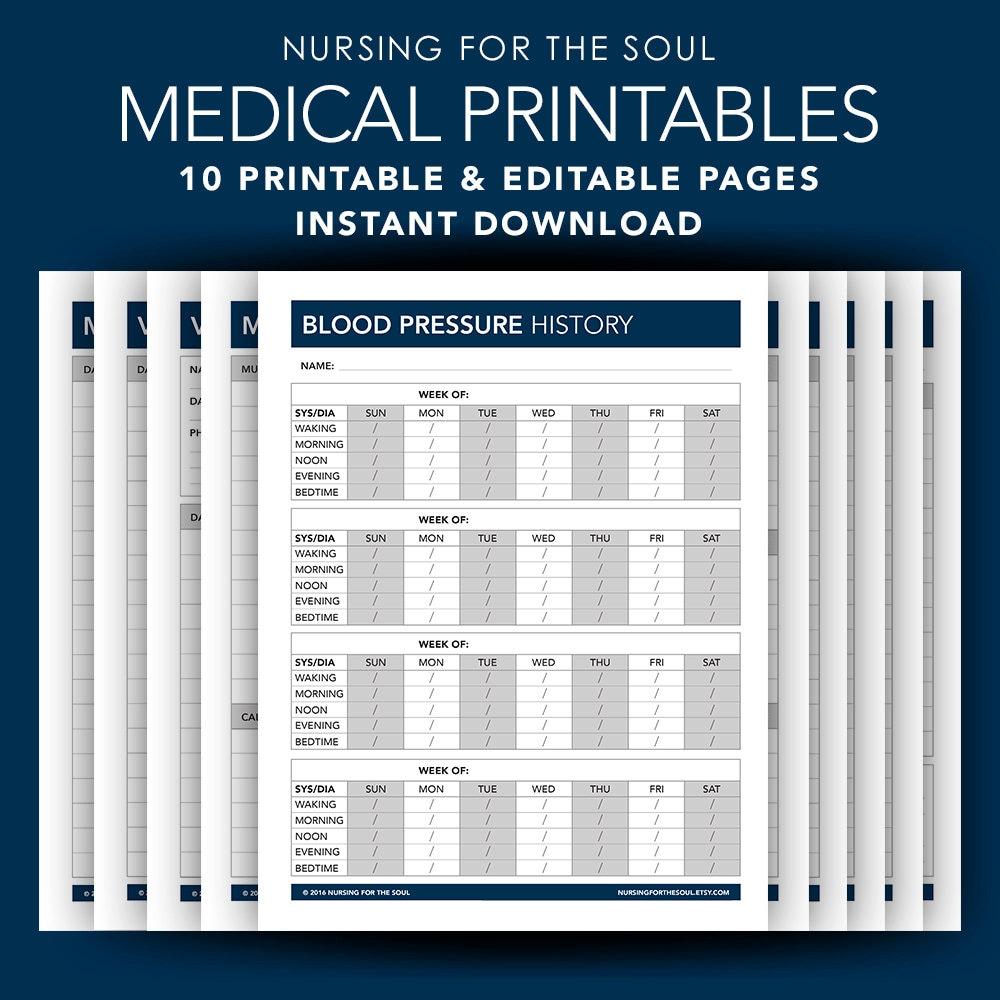 Printable Medication Log Sheet: Medical Forms Printable Medical Forms Editable Medical