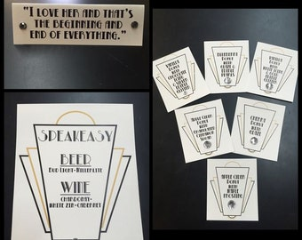 Great Gatsby Wedding Decor Set of 19