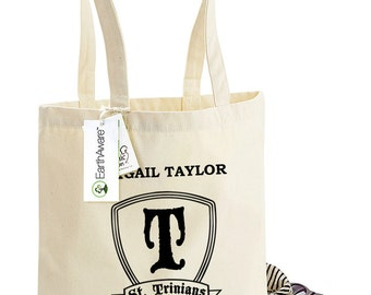 Personalised St Trinians Head Girl Tote Bag - Bag for Life - 100% Organic Cotton Canvas Tote