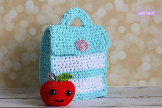 Crochet Back Bag : Crochet Little Lunch Bag Pattern pdf instant digital download back to ...