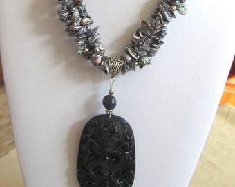 Dragon statement necklace