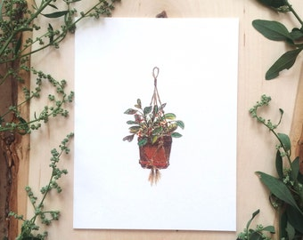 Greeting card 'Hanging Bouquet'