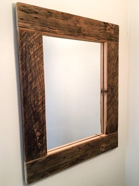 Reclaimed Wood Mirror Rustic Mirror By UnitedReclaimedInc