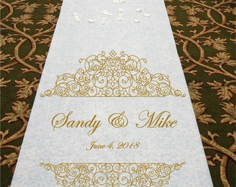 Fancy Scrolls - Wedding Aisle Runner