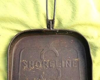 Antique Metal Shoreline Railway Railroad Dustpan Industrial Salvage