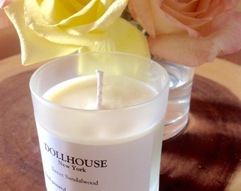 Sweet Sandalwood Natural Soy Candle:Handmade and hand poured in NY