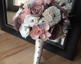 Rose gold bouquet, Rose gold and blush bouquet, Sola bouquet, Romantic bouquet, Alternative bouquet, Sola flower bouquet, Rose gold wedding