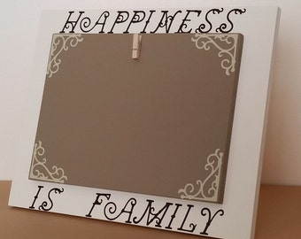 Happiness  Is Family Picture Frame, picture frame, Brown Picture Frame,  wood picture frame, 5 x 7 picture frame, 4 x 6 picture frame
