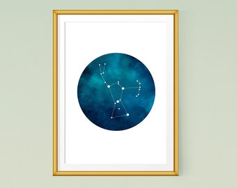 Orion constellation print