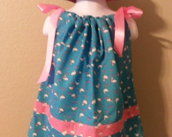 Toddler Pillowcase dress with matching hat