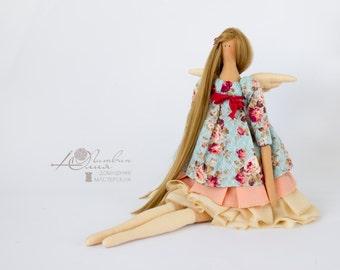 Tilda Rag doll Tilda doll Tilda fabric Textile doll Doll fabric Doll handmade Doll tilda Interior doll Blue Collection tilda Beige Blonde