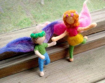 Fairy Child (boy or girl, Waldorf-Inspired & Needle-felted)