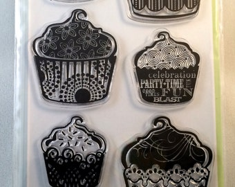 Patterned Cupcakes by Inkadinkado