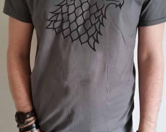Game of Thrones, house Stark Direwolf logo subtle men's T-shirt
