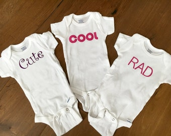 Baby Girl Onesie 3 Pack