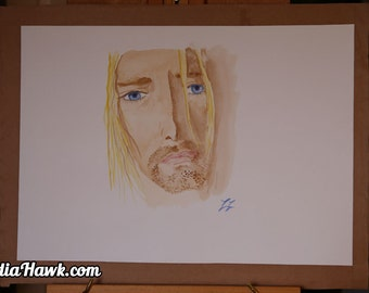 Kurt Cobain Watercolor