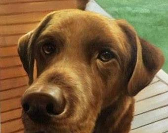 Custom Dog Portrait - Animal Portrait – Custom Dog Painting- Pet Memorial Painting - Dog Painting - Custom Pet Painting - Dog Lover Gift