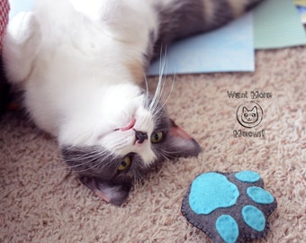 Felt catnip toy, Cat toys, Organic catnip toy, Natural cat toy, Paw cat toys, Kawaii cat toy, Catnip paw, Eco friendly soft cat toy