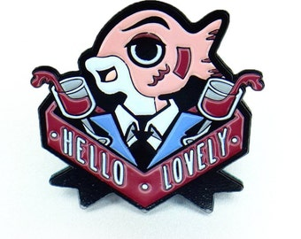 Fishy Business - -Unique Enamel Pin inspired by Facebook Stickers