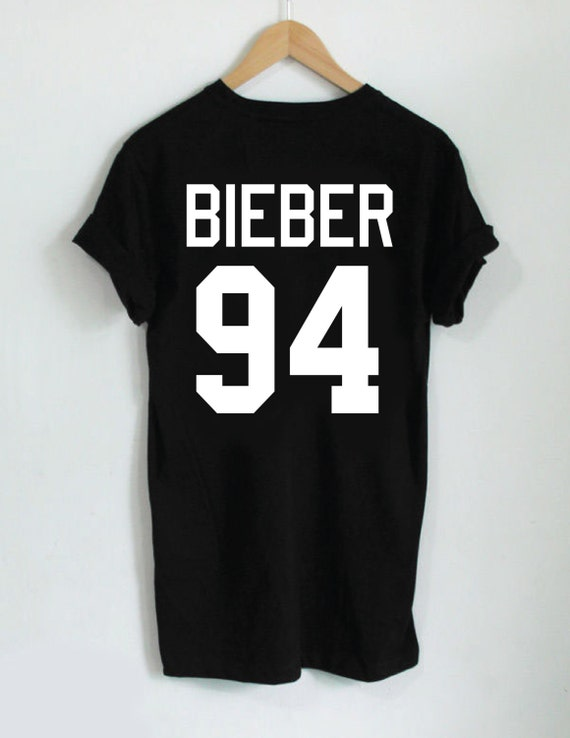 Justin Bieber 94 Jersey Style Tee Back Design By
