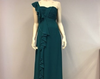Green Chiffon Dress Bridesmaid Dress Mother of the Bride Formal wear Wedding Guest Party dresses