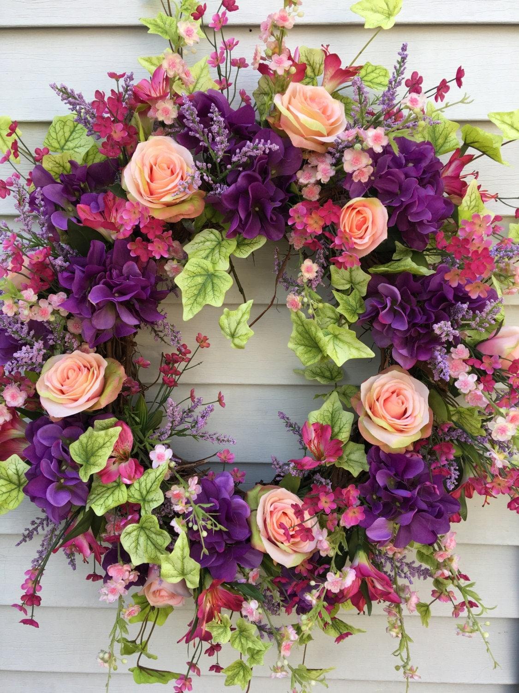 Spring Wreaths Front Door Wreaths Spring Door Wreath