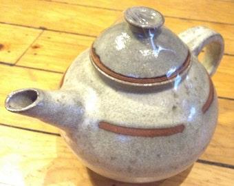 Grey and Brown ceramic teapot