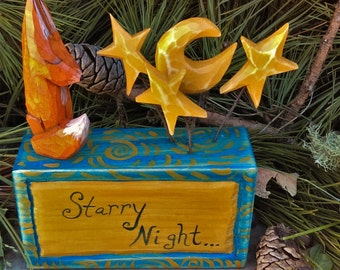 Fox's Starry Night Poetry Blocks