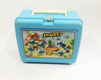 Vintage Smurfs lunchbox, from the 1980s