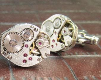INGERSOLL Vintage 17 Jewel Watch Movement Cufflinks