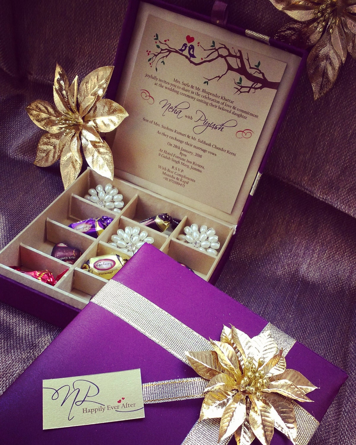 Wedding Planner Gift Box : Chocolate Box Gift Box Wedding Invitation Box