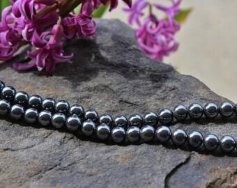 8mm Non-Magnetic Hematite Beads, Round Hematite Beads, Unique Beads, Hematite Beads
