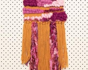 Wall Art Weaving Mustard/Pink