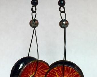 The Yo-Yo Earrings - Discover Torch Enameling