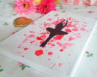 Canvas 20 x 30 cm | Colorful Dancer-Pink
