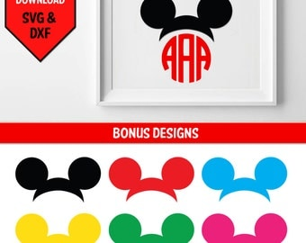 Minnie Ears svg/ Mickey Ears svg/ Disney inspired character/ Children's character/ svg file for cricut/ vinyl decal svg files/ Walt Disney