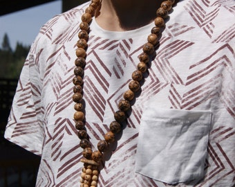 Handmade Amazonian Seed Necklace - Acai, Paxiuba (Walking Tree), Jatoba from Brazil