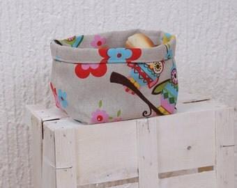 Owl Fabric  Bread basket