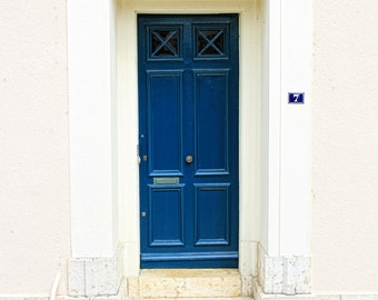 French doors, doors of France, blue door, french blue door, fine art photography, wall art, old door print, home decor, refined French door