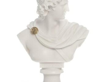 Apollo Bust Statue, Medium